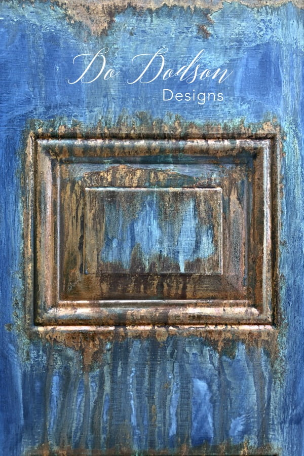 Like Patina Finish? Then You'll Love This one! #dododsondesigns #rusteffectpaint #patinafinish #patina #rust #patinapaint