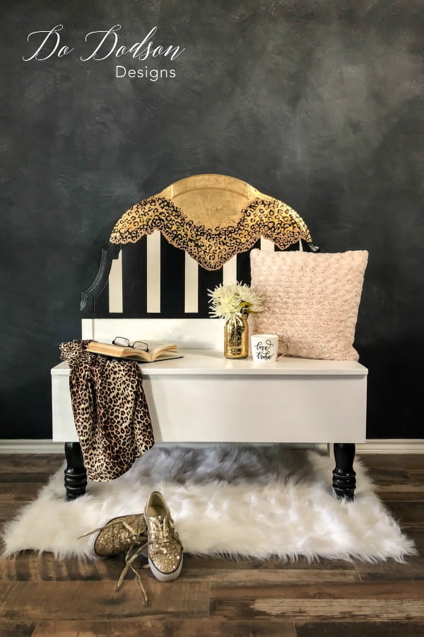 This DIY headboard bench was inspired by The Creative Makers TRIBE. I LOVE my TRIBE!