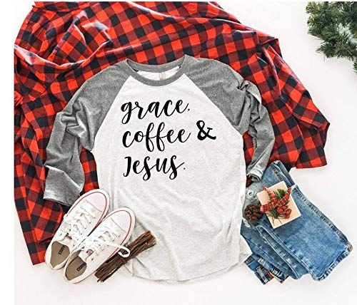 Grace Coffee & Jesus T-shirt Gift Ideas For Women