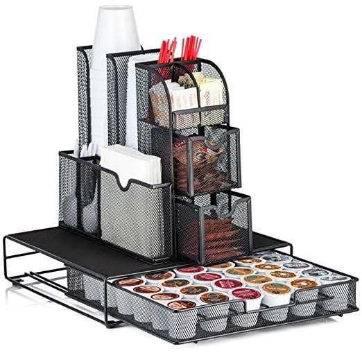 Coffee Organizer gift ideas for women that love all things coffee.
