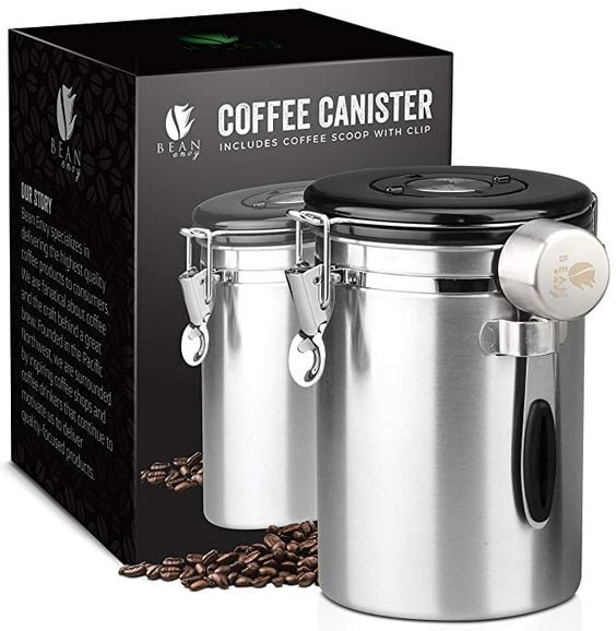 Coffee Bean Canister gift ideas for women that love all things coffee.