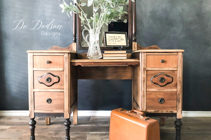 The natural beauty of raw wood furniture. It was so easy to create this look.