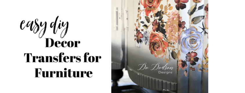 Decor transfers for painted furniture