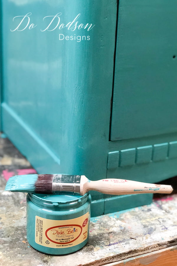 Decor transfers on furniture look amazing over paint.