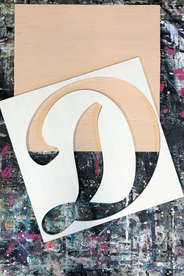 Don't throw away the cutout from wood letters! Re-purpose them.