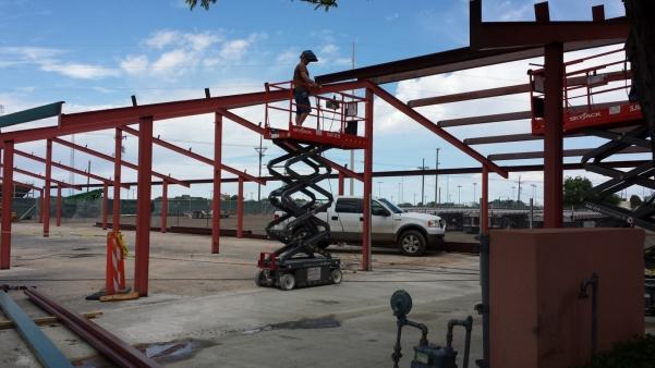 Parking garage construction, 5/4/15