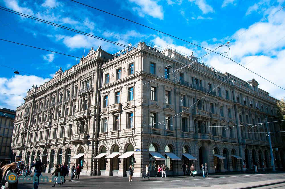 Das Credit Suisse Gebäude am Paradeplatz