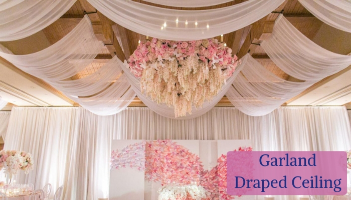 Garland-Draped Ceiling