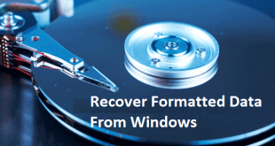recover format data in windows
