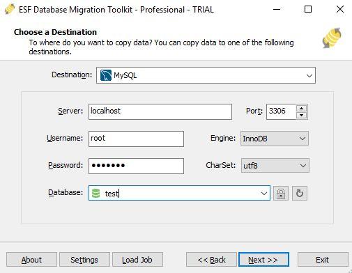 esf database migration software