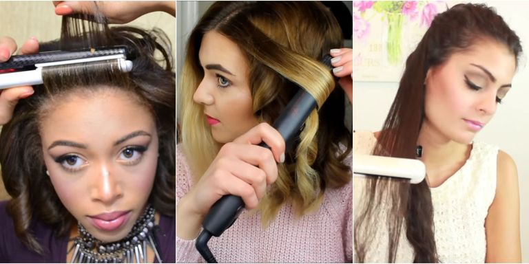 How to style your hair using flat iron