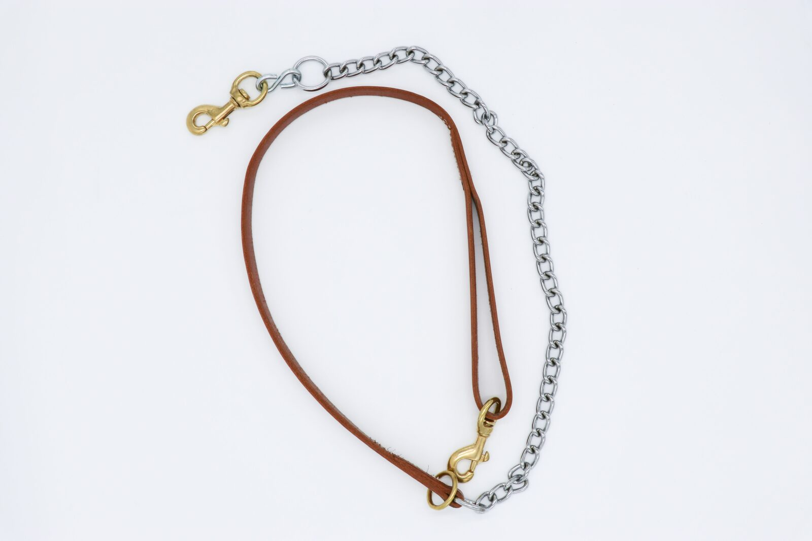 Leather Lead W Chain Dog And Hunt Supply