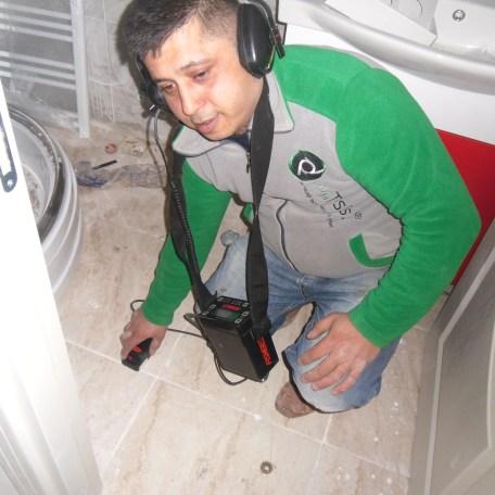 banyoda dinleme su kaçağı