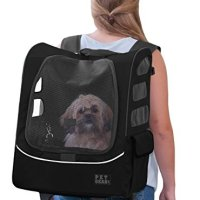 Pet Gear I-GO2 Plus Traveler Rolling Backpack Carrier for Small Cats and Dogs, Black