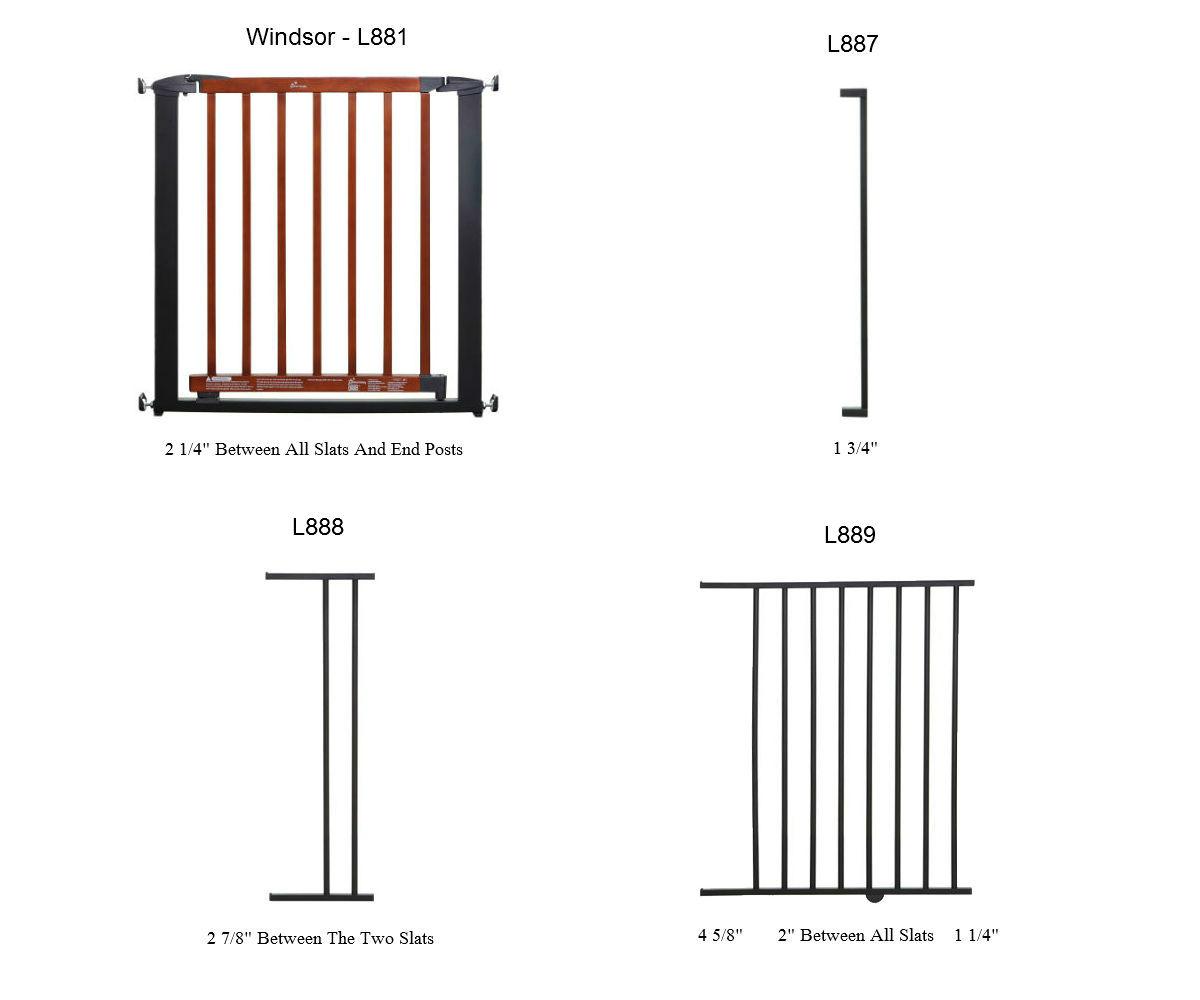 Windsor Pressure Mounted Gate Plus 22 Charcoal W Cherry
