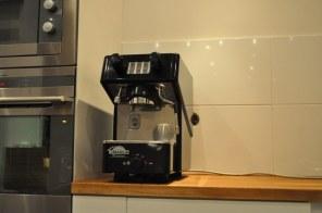 Espressomaskinen på plats!