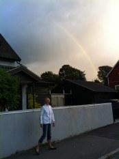 Kerstin och regnbåge.