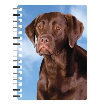 030717115716 3D Notebook Labrador Chocolate 1