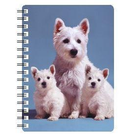 030717118410 3D Notebook Westie Mum and Pups