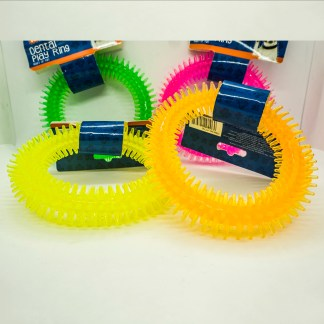 Pet Touch Dog Toy: Dental Play Ring.