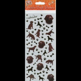 Labrador Chocolate Creative Craft Stickers