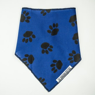 Pawprints on Blue Small Bandana