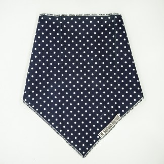 Polka Dots on Navy Blue Small Bandana