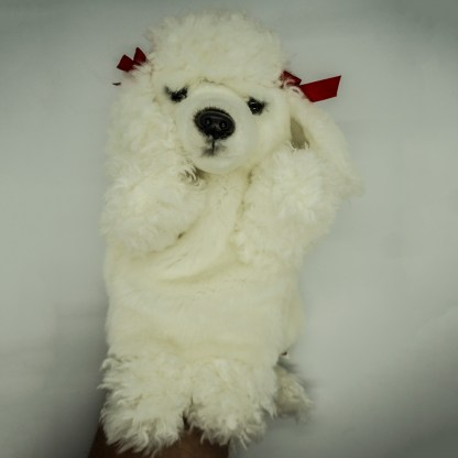 Poodle White Glove Puppet