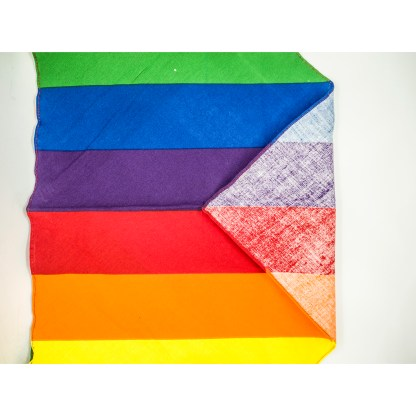 Rainbow Stripes Extra Large Bandana