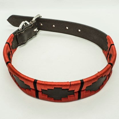 Red Polo L Leather Collar