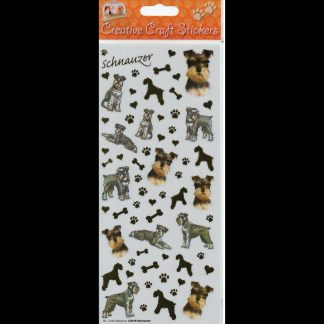 Schnauzer Creative Craft Stickers