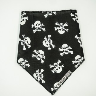 Skull and Crossbones on Black Medium Bandana
