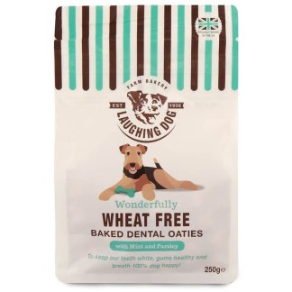 Laughing Dog Baked Dental Oaties Healthy Wheat Free Dog Biscuits
