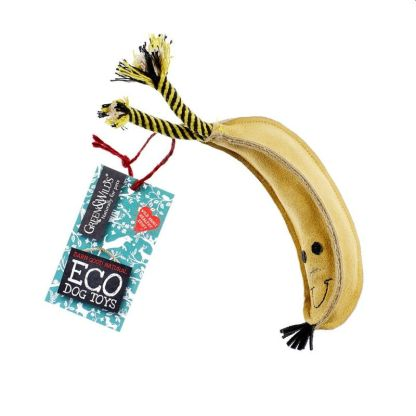 610696121066 Barry the Banana Eco Dog Toy