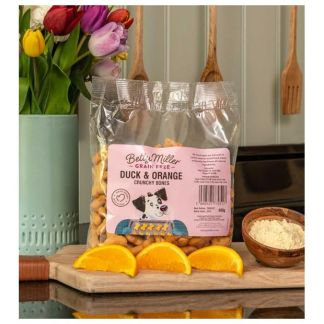 Betty Miller Duck and Orange Bones 400g Biscuit Treats