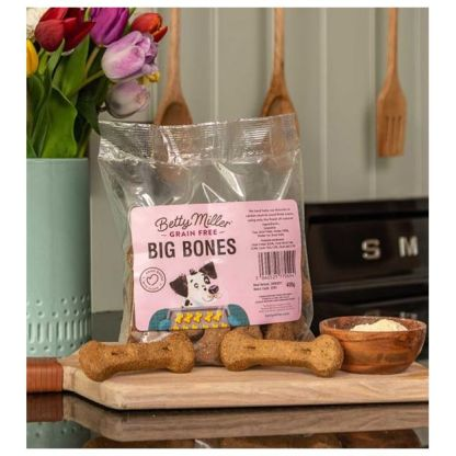 060525770494 Betty Miller Grain Free Big Bones 400g Biscuit Treats