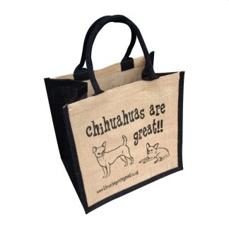 Chihuahuas are Great Jute Bag Short Hair