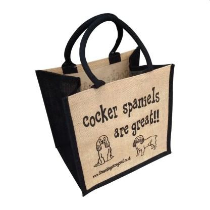 Cocker Spaniels are Great Jute Bag
