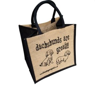 Dachshunds are Great Jute Bag Long Hair