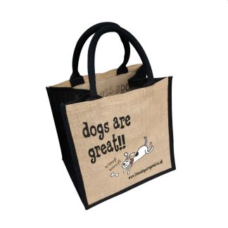 Dogs are Great Jute Bag