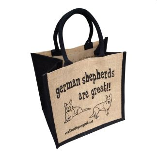 German Shepherds are Great Jute Bag