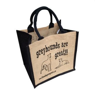 Greyhounds are Great Jute Bag