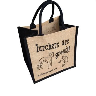 Lurchers are Great Jute Bag