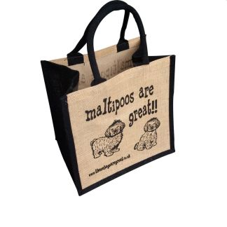 Maltipoos are Great Jute Bag
