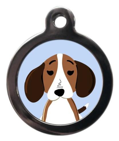 Beagle BR1 Dog Breed ID Tag