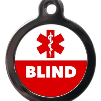 Blind ME58 Medic Alert Dog ID Tag