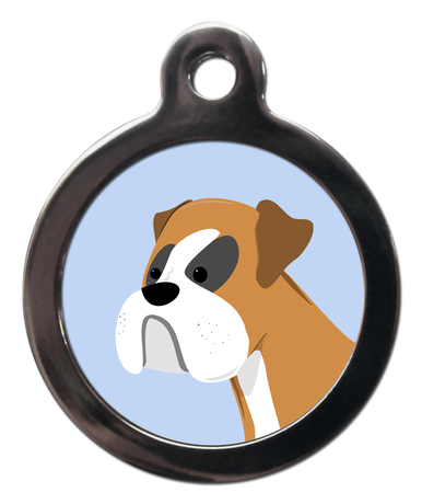Boxer BR17 Dog Breed ID Tag