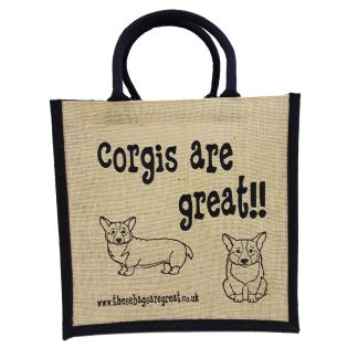 Corgis are Great Jute Bag