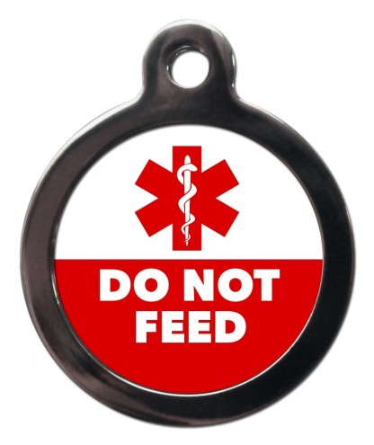 Do Not Feed ME61 Medic Alert Dog ID Tag