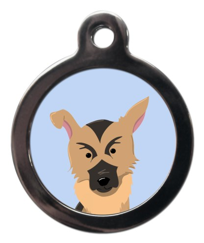 German Shepherd BR21 Dog Breed ID Tag